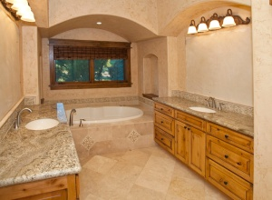 View of master bath