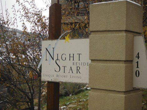 Sign for Night Star Residences